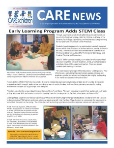 CARE Winter 2016 Newsletter Cover