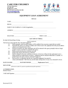equipment loan lending agreement